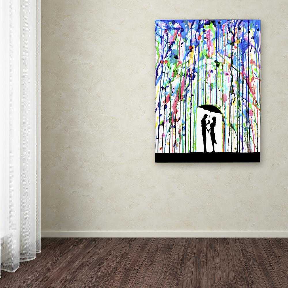 """24 in. x 18 in. """"Pour Deux"""" by Marc Allante Printed"""