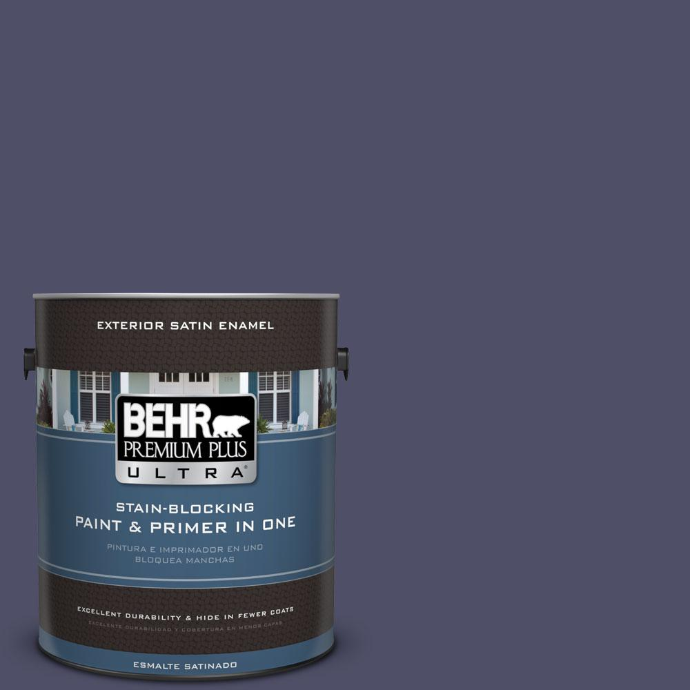 BEHR Premium Plus Ultra 1-gal. #640F-7 Academy Purple Satin Enamel Exterior Paint