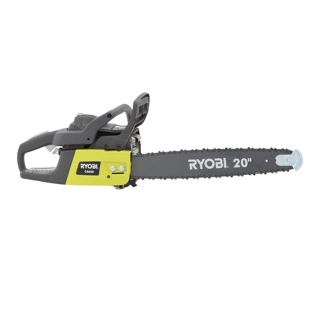 Ryobi 20 in 46cc gas chainsaw ry10521b the home depot ryobi 20 in 46cc gas chainsaw keyboard keysfo Choice Image