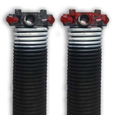 0.218 in. Wire x 1.75 in. D x 28 in. L Torsion Springs in White Left and Right Wound Pair for Sectional Garage Doors