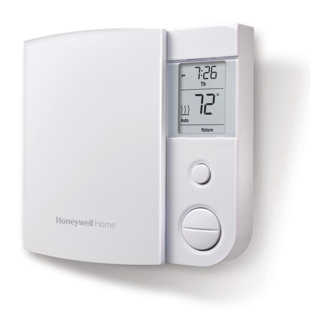 Honeywell 7-Day Programmable Thermostat RLV450A for 120 240 V Electric Heat
