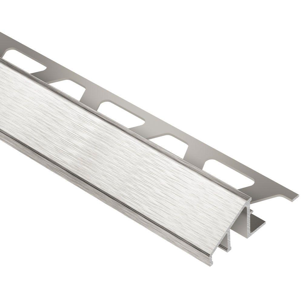 Reno-U Brushed Nickel Anodized Aluminum 1/2 in. x 8 ft. 2-1/2
