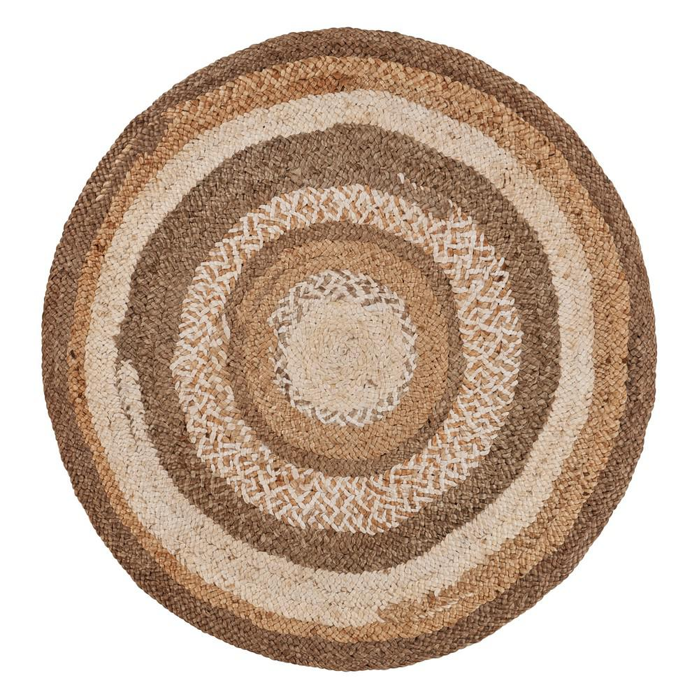 Brown 6 Ft Boutique Round Jute Area