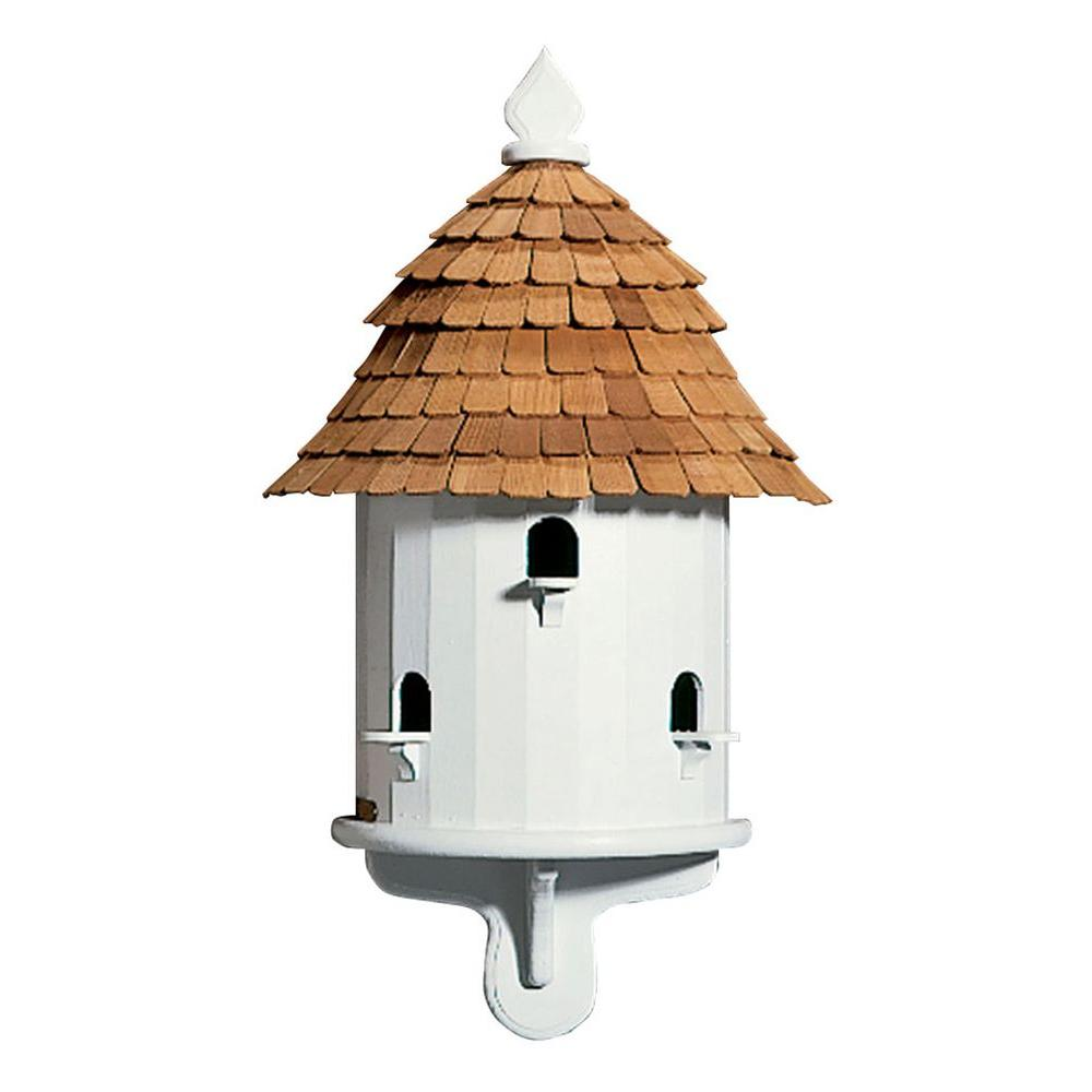 Good Directions Lazy Hill Farm Designs Half House White/Natural Birdhouse-DISCONTINUED
