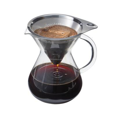 2-Cup Clear/Silver Drip Coffee Brewer with Micro Filter