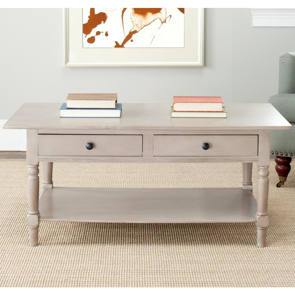 Safavieh Boris Light Oak Stain Storage Coffee Table