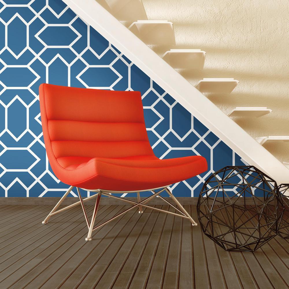 28.18 sq. ft. Blue Modern Geometric Peel and Stick Decor