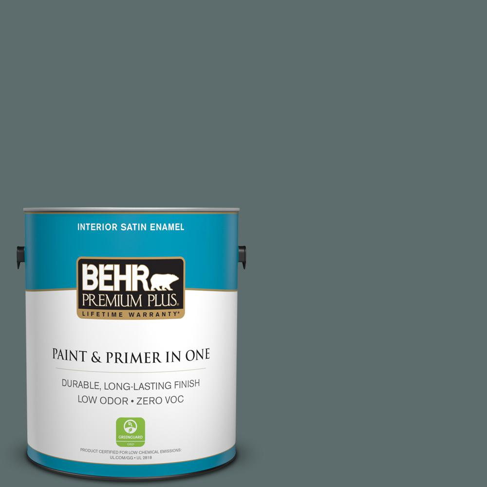 1 gal. #PPU12-19 Mountain Pine Zero VOC Satin Enamel Interior Paint
