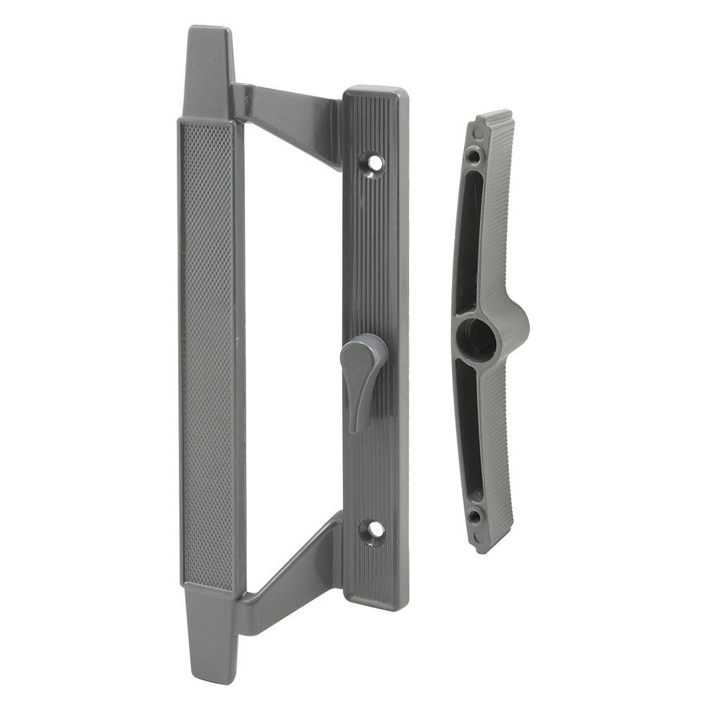 5-1/8 in. Gray Hole Centers Sliding Door Handle Set