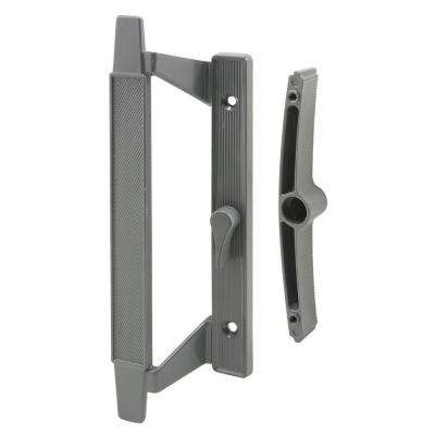 5-1/8 in. on Center Mill Finished Sliding Door Handle Set