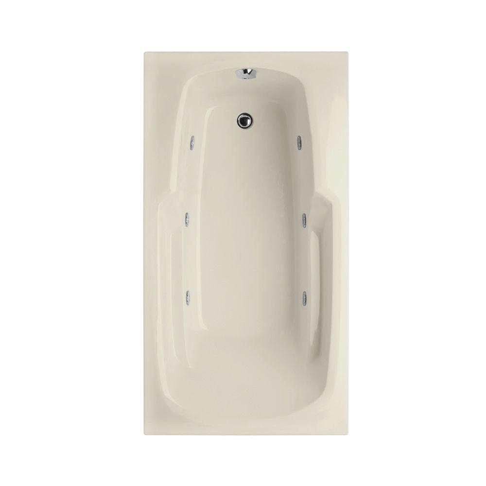Hydro Systems Napa 6 ft. Reversible Drain Whirlpool Tub in Biscuit