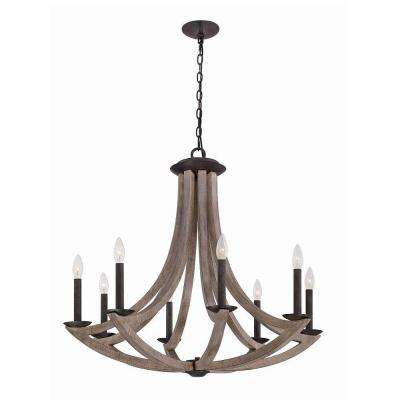 Arcata Collection 8-Light Wood Chandelier