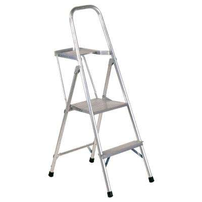 4 ft. Aluminum Platform Step Ladder with 200 lbs. Load Capacity Type III Duty Rating