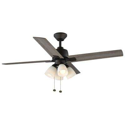 Malone 54 in. LED Oil-Rubbed Bronze Ceiling Fan with Light Kit