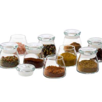 12-Piece Glass Mini Vibe Jar Set with Lids