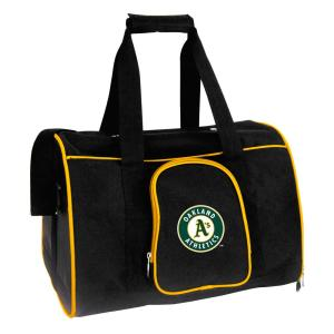 Denco MLB Oakland Athletics Pet Carrier Premium 16 inch Bag in Yellow by Denco