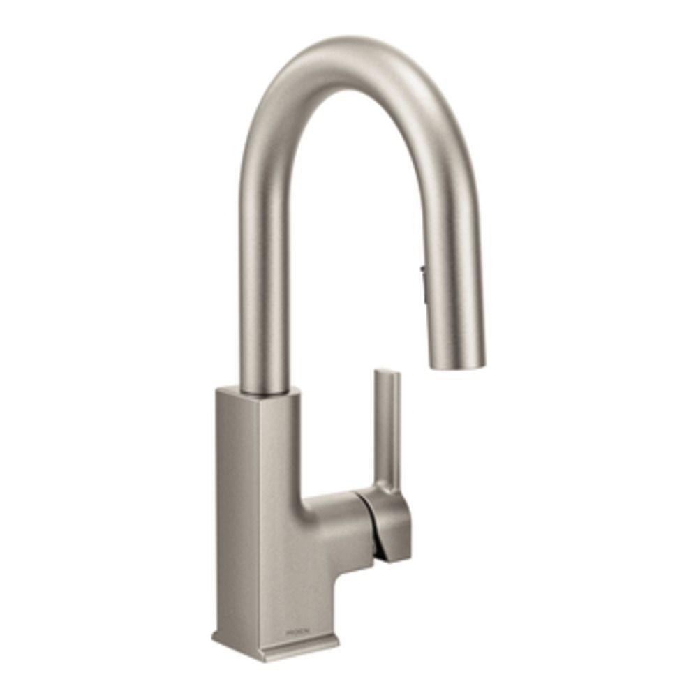 MOEN STO Single-Handle Bar Faucet Featuring Reflex in Spot Resist ...