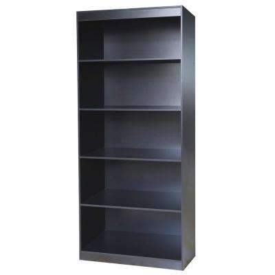 Black Sturdy Standard 5-Shelf Bookcase
