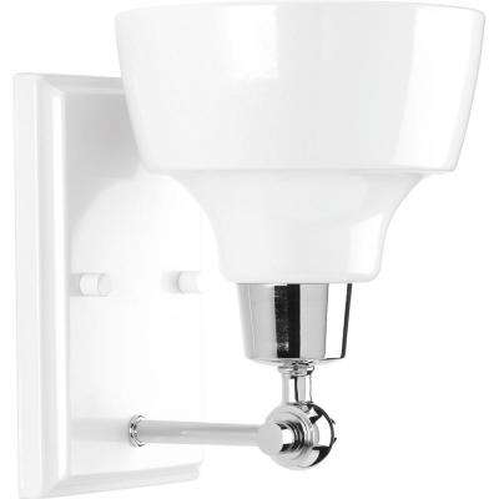 Bramlett Collection 1-Light Polished Chrome Bath Light