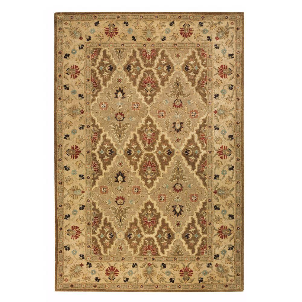 Menton Spice Brown/Soft Gold 5 ft. 3 in. x 8 ft.