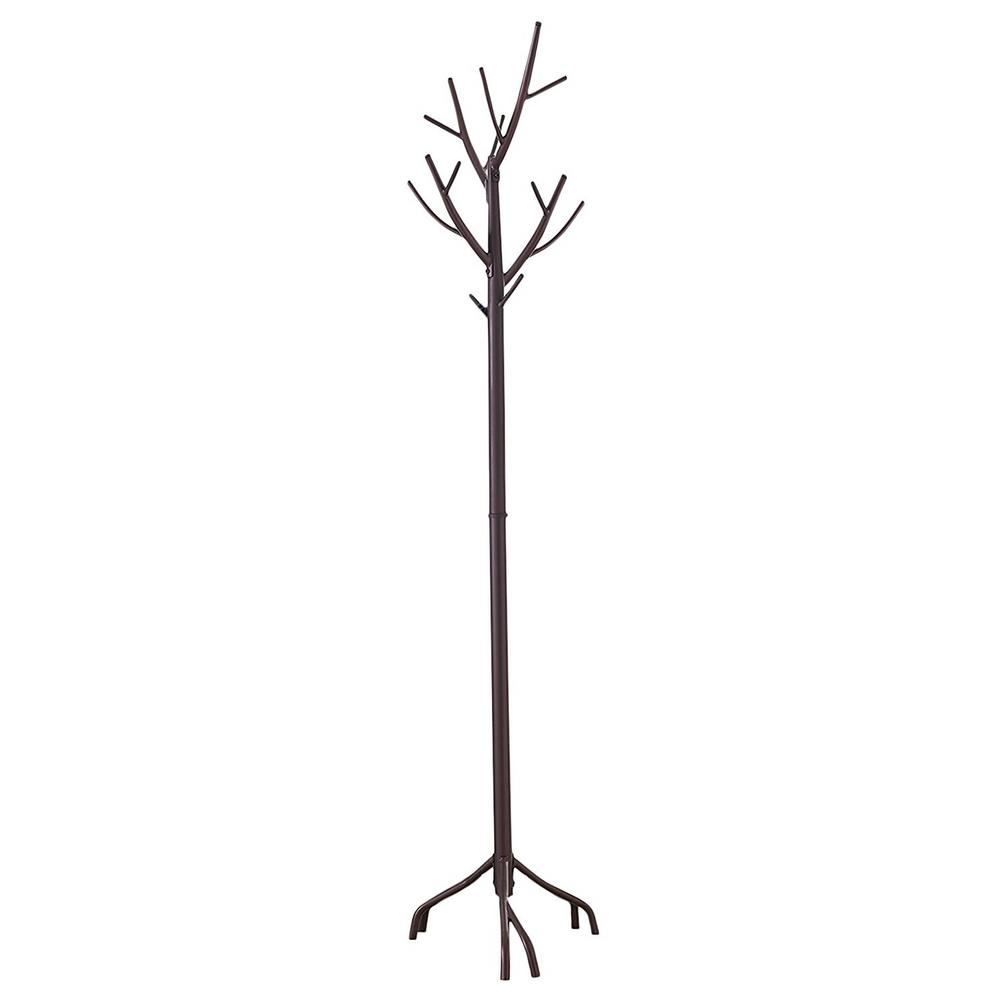 Bronze Metal Tree Coat and Hat Stand with 10-Hooks