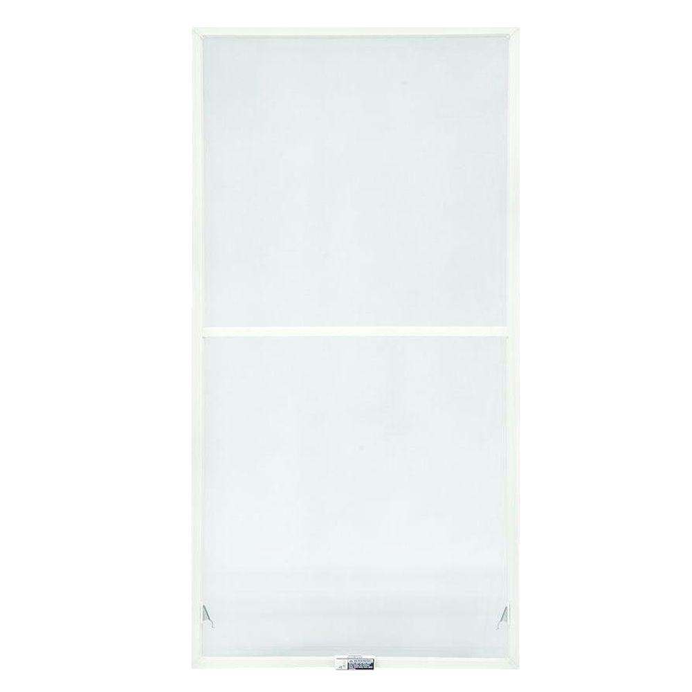 TruScene 23-7/8 in. x 46-27/32 in. White Double-Hung Insect Screen
