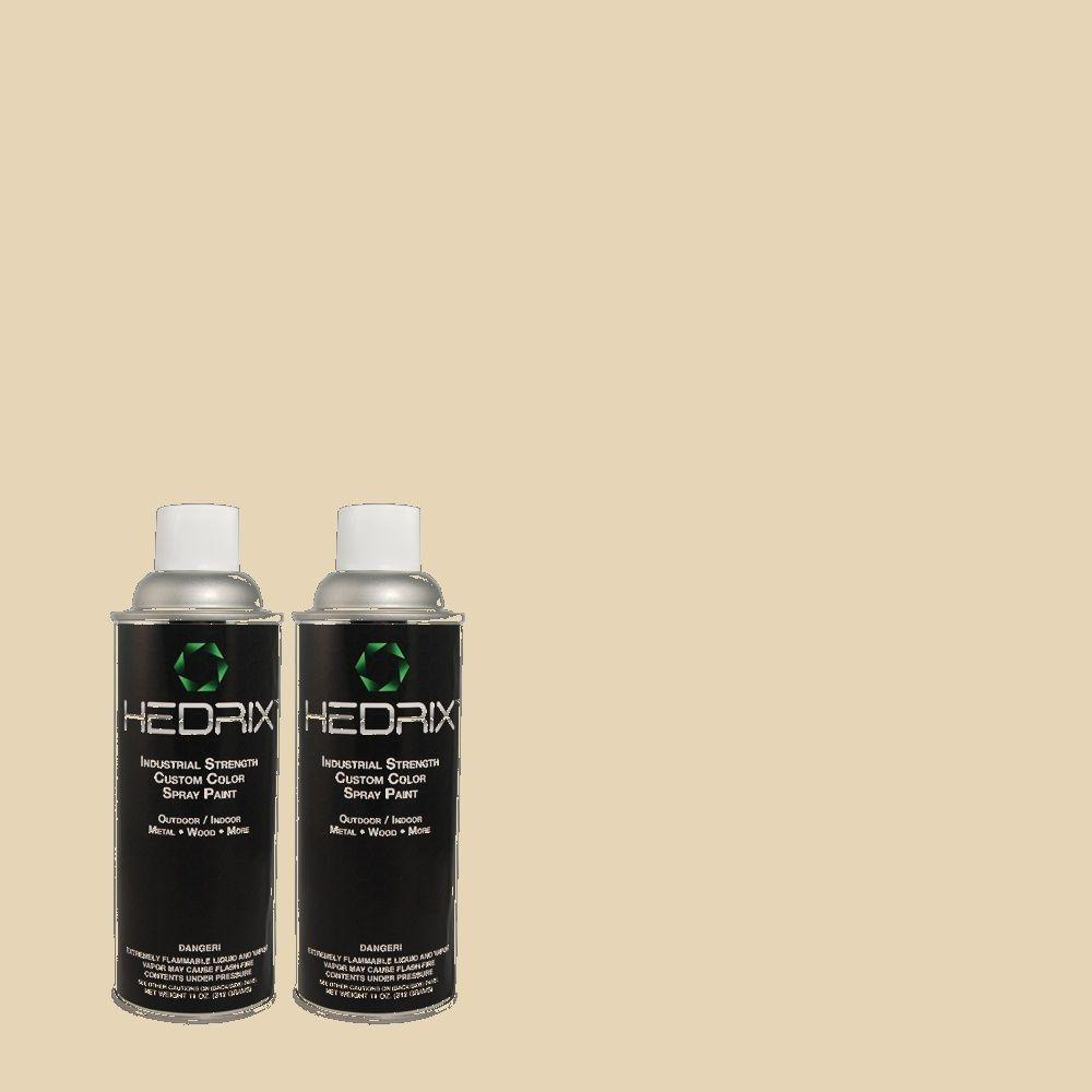 Hedrix 11 oz. Match of PPU4-12 Natural Almond Semi-Gloss Custom Spray Paint (2-Pack)