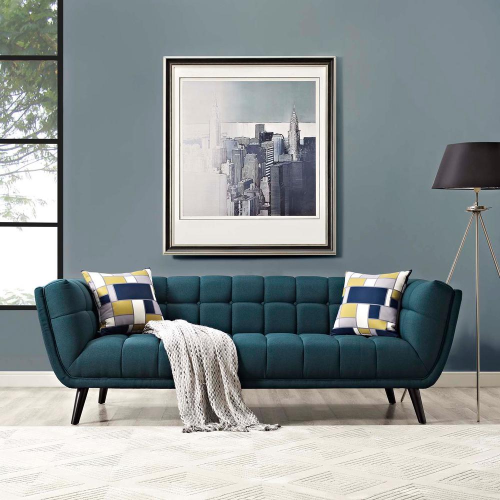 MODWAY Bestow Blue Upholstered Fabric Sofa EEI-2730-BLU ...