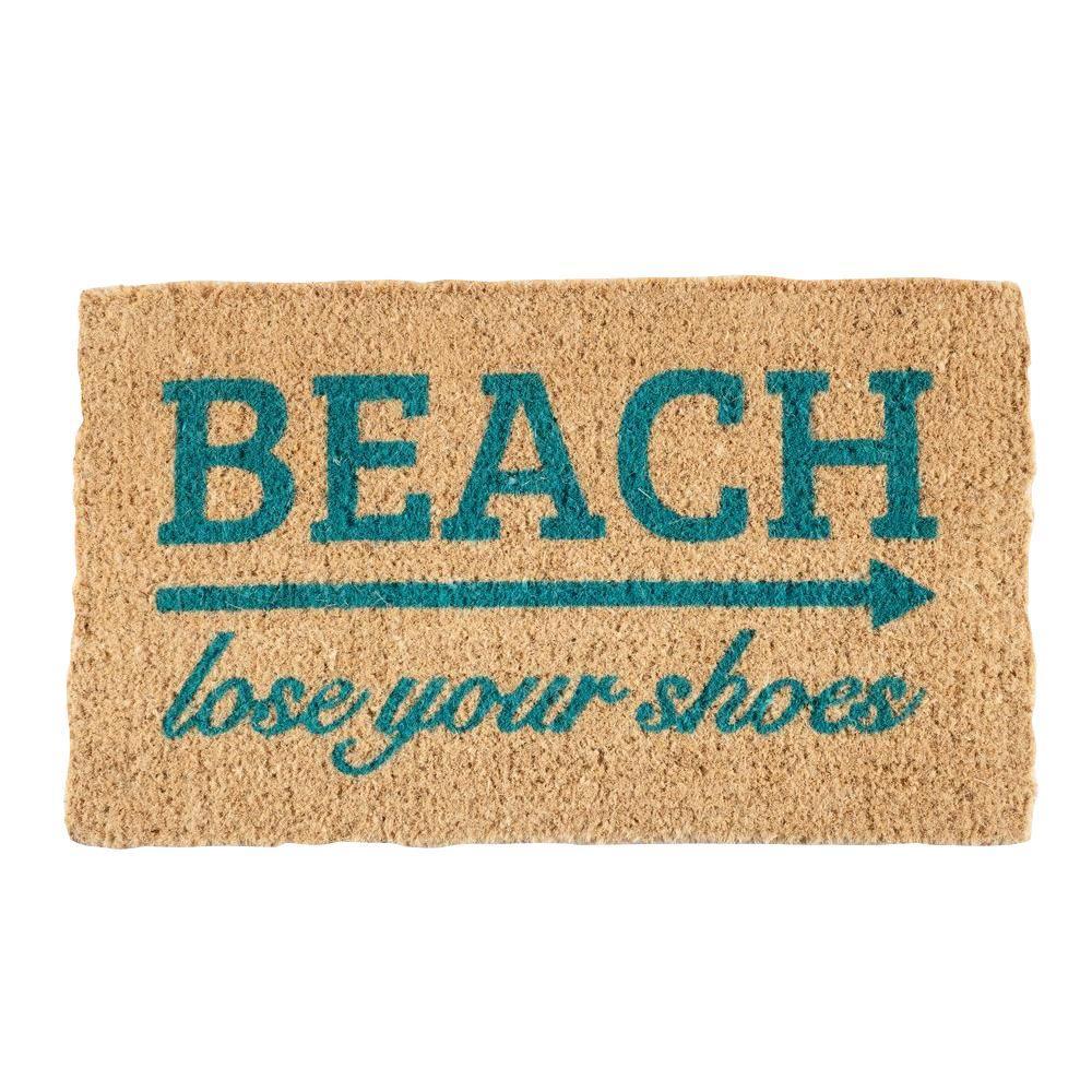 Lose your shoes 18 in. x 30 in. Coconut Fiber Door Mat
