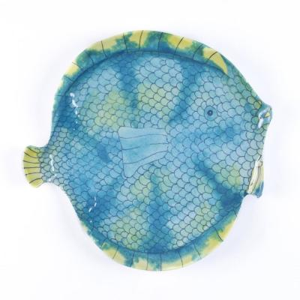 Swimmingly Fish Multi Dinner Plate (Set of 4)