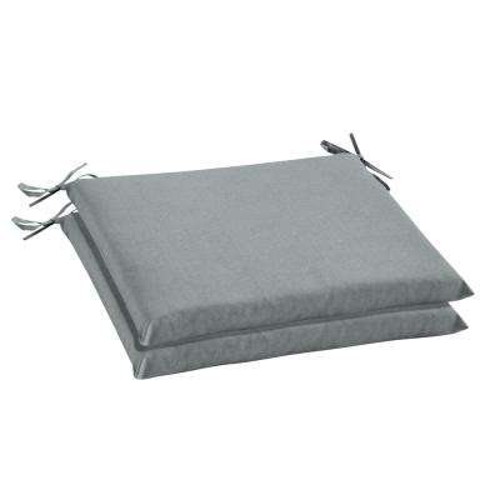 Sunbrella Cast Mist Rectangular Outdoor Seat Cushion (2-Pack)