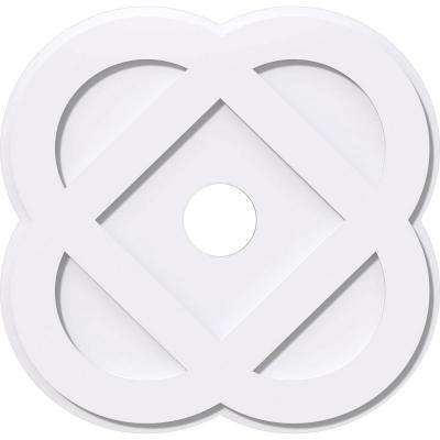 36 in. OD x 6 in. ID x 1 in. P Charlotte Architectural Grade PVC Contemporary Ceiling Medallion