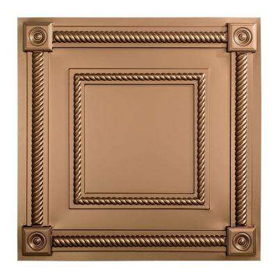 Coffer - 2 ft. x 2 ft. Lay-in Ceiling Tile in Argent Bronze