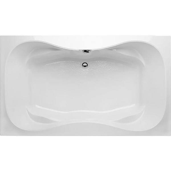 Studio Hourglass 5 ft. Rectangular Drop-in Center Drain Bathtub in White