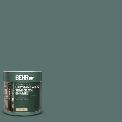 Behr 1 Qt Ppu12 17 Cameroon Green Semi Gloss Enamel Urethane Alkyd Interior Exterior Paint 393004 The Home Depot