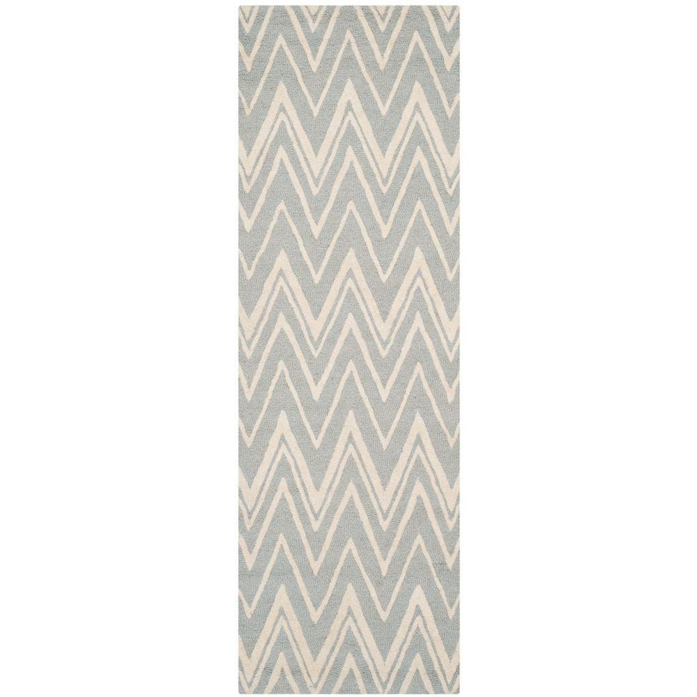 Cambridge Gray/Ivory 2 ft. 6 in. x 10 ft. Runner