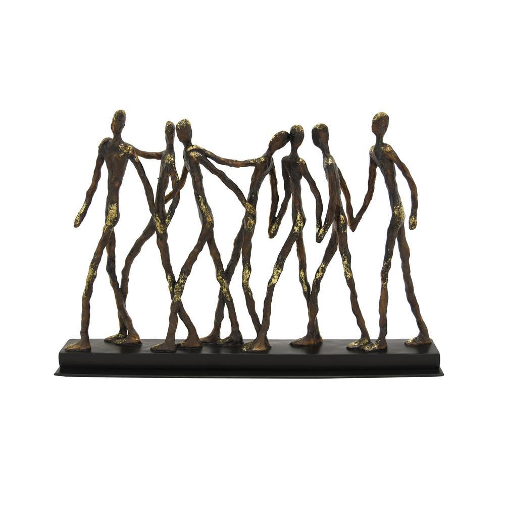 15.75 in. x 3 in. Resin Friends Figurine in Black