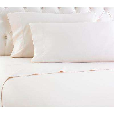 Short Queen Ivory RV Sheet Set