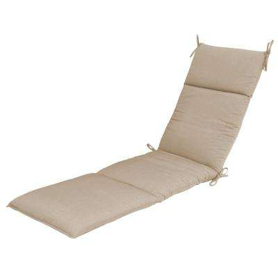 Sunbrella Spectrum Sand Outdoor Chaise Cushion. Canvas Sapphire; Spectrum Sand  sc 1 st  Home Depot : lounge chaise cushions - Sectionals, Sofas & Couches