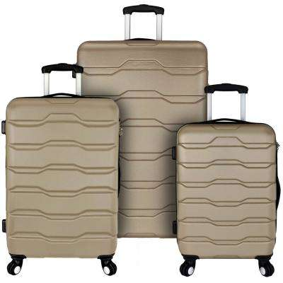 Omni 3-Piece Hardside Spinner Luggage Set, Champagne
