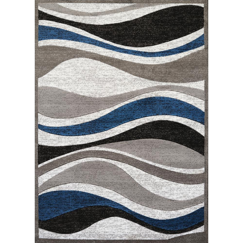 United Weavers Studio Silica Denim Blue 2 Ft X 3 Area Rug