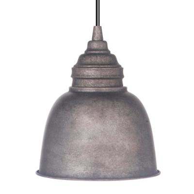 Instant Pendant 1-Light Antique Rust Recessed Light Conversion Kit with Metal Shade