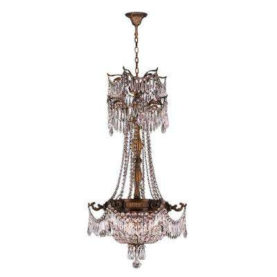 Winchester Collection 3-Light Antique Bronze and Clear Crystal Chandelier