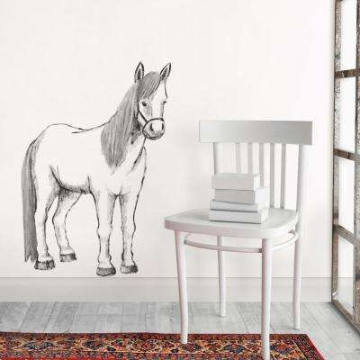 White Saddle up Wall Decal