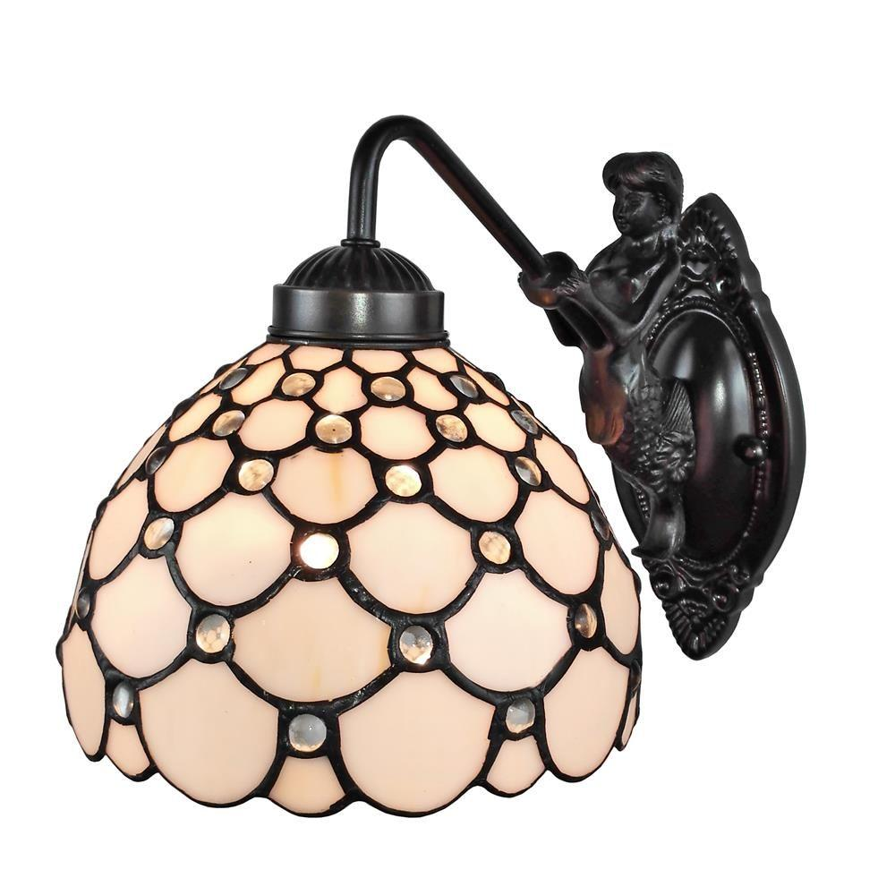 Amora lighting tiffany style wall lamp am110wl08 the home depot amora lighting tiffany style wall lamp amipublicfo Gallery