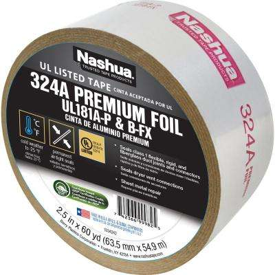 2.5 in. x 60 yd. 324 Amp Premium Foil UL Listed HVAC Tape
