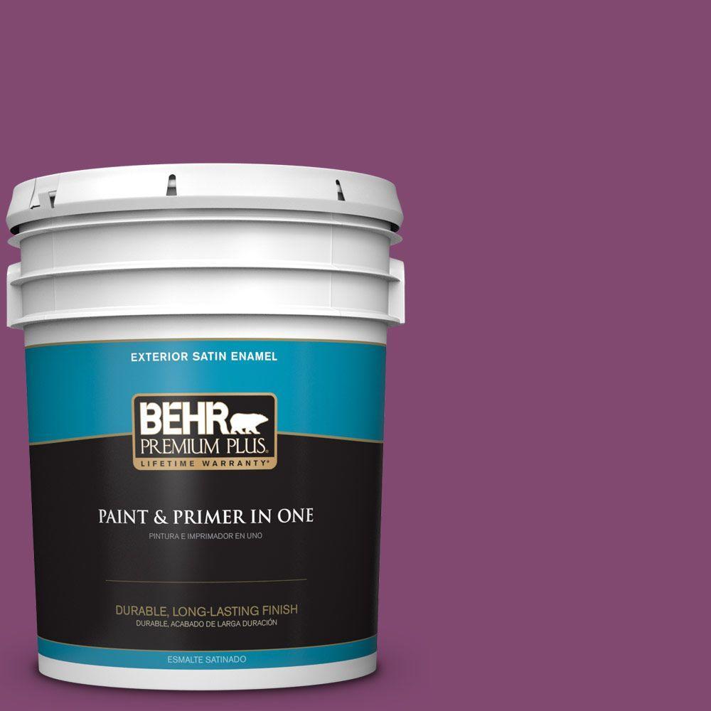 5-gal. #680B-7 Sugar Plum Satin Enamel Exterior Paint