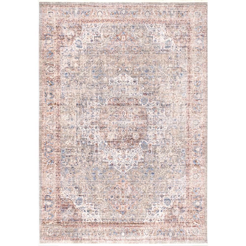 Annalee Nebulous Rosette Beige 4 ft. x 6 ft. Area Rug