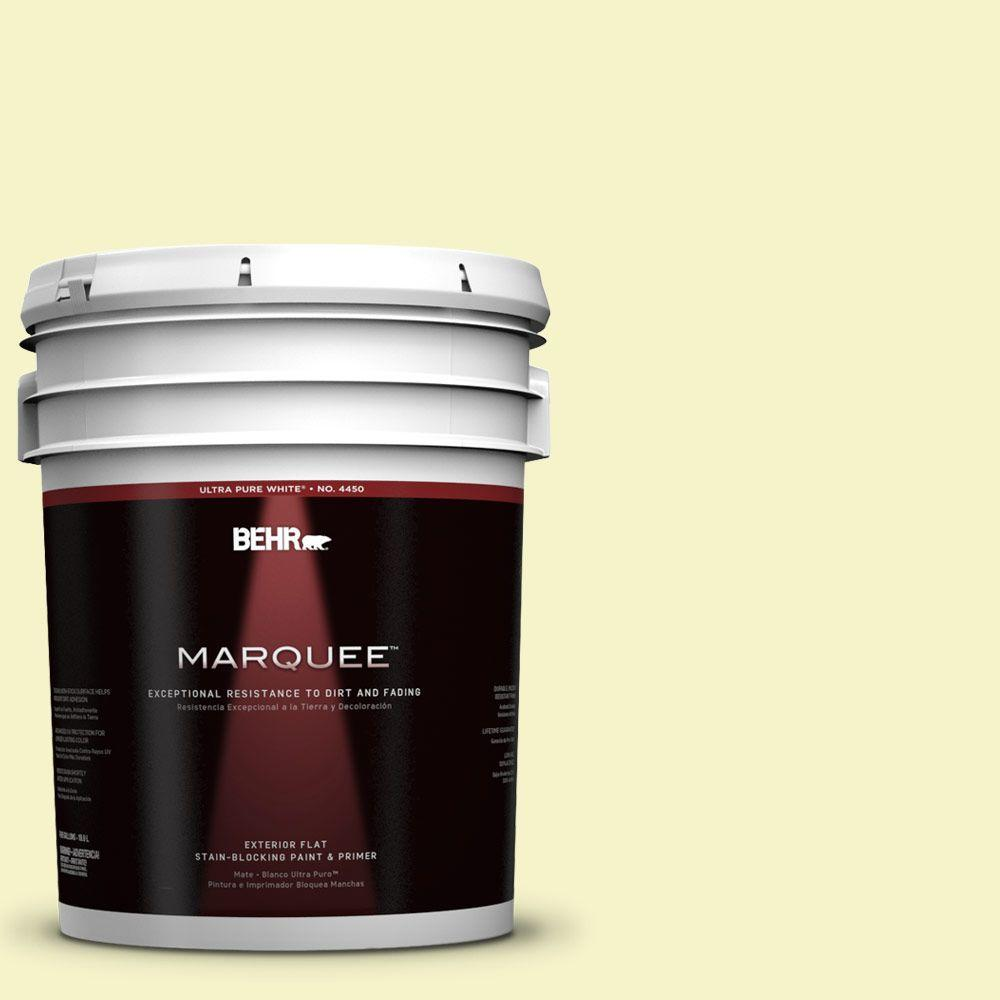 5-gal. #400A-1 Candlelight Yellow Flat Exterior Paint