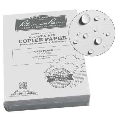 All-Weather 8-1/2 in. x 11 in. 20 lbs. Bulk Copier Paper, Gray (500-Sheet Pack)